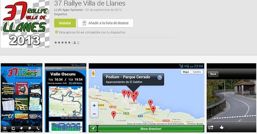 Aplicación móvil Rallye Villa de Llanes 2013