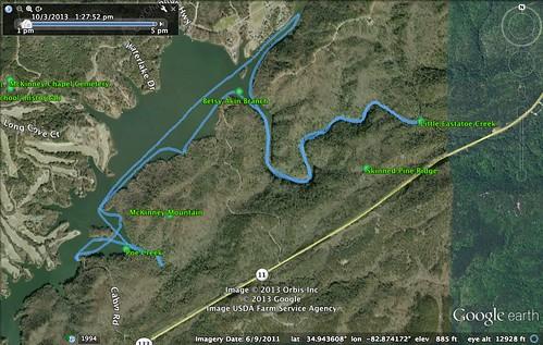 Estatoe Creek Paddle Route