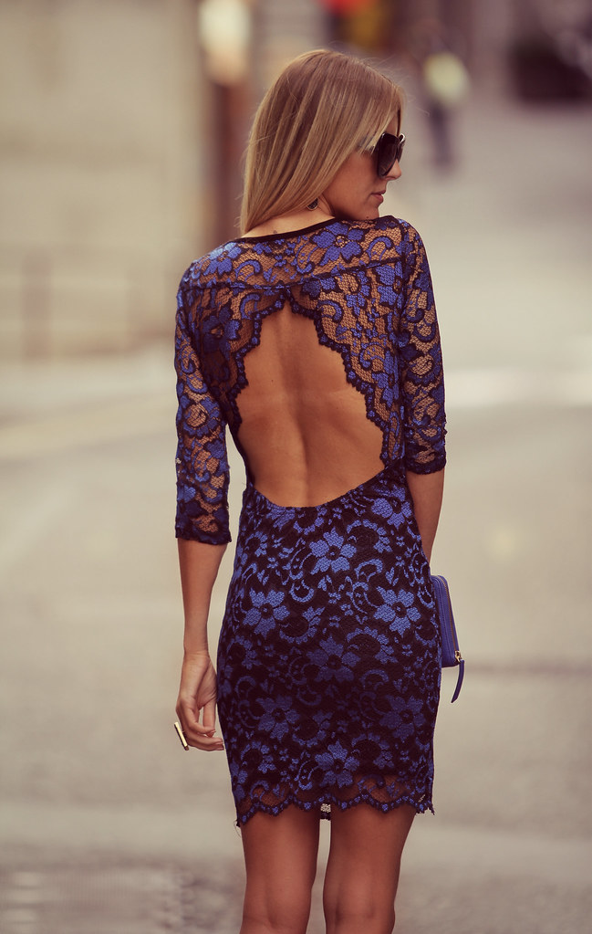 style lover blue lace dress XI