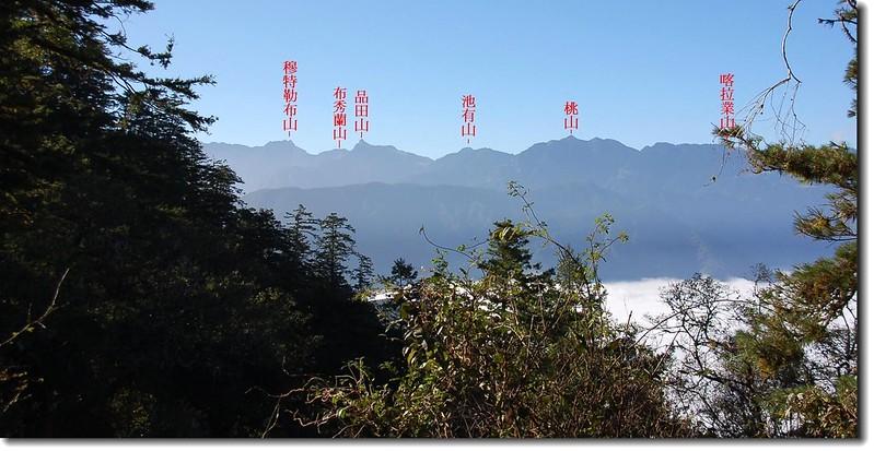 武陵四秀(From 木杆鞍部) 1