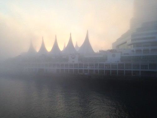 Canada Place emerging from the fog