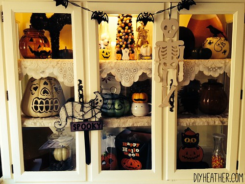 Halloween China Cabinet by Digital Heather