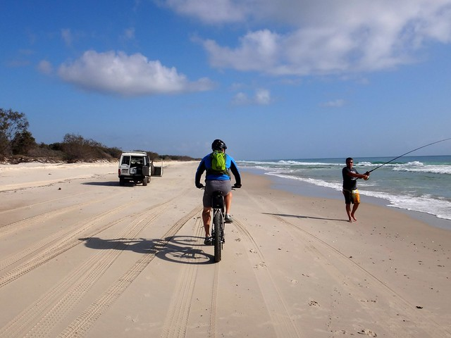Bike & 4X4 on the beach