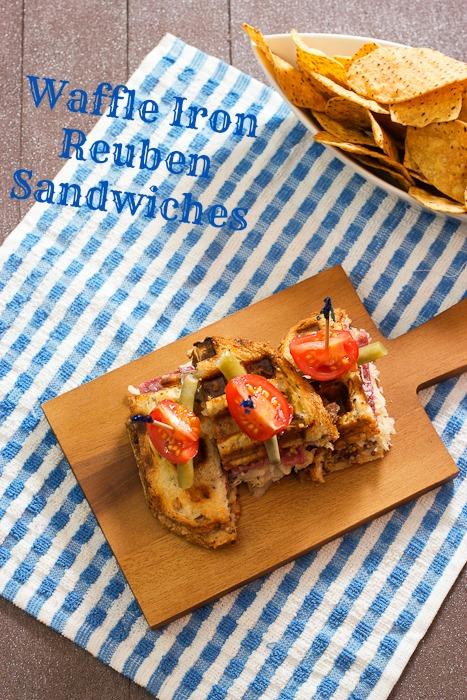 Waffle Iron Reuben Sandwiches