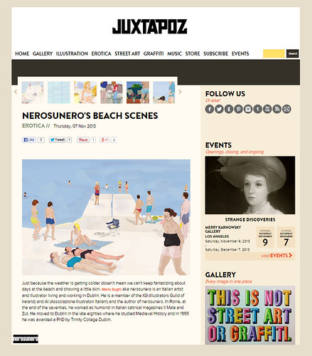 nerosunero's beach scenes on Juxtapoz/Erotica by nerosunero
