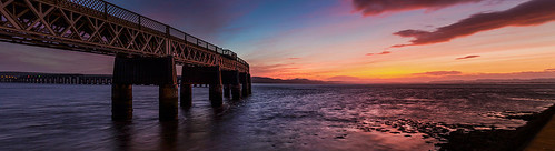 Tay Rail Bridge Sunset, Dundee by ajnabeee