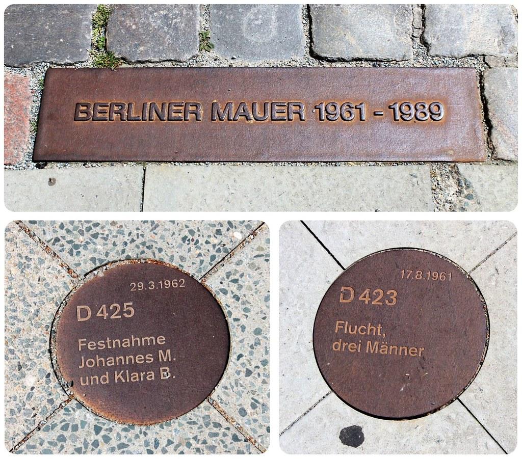 Berlin wall plaques