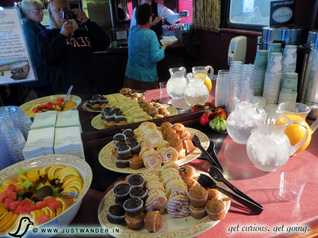 PIC: Snacks aboard the Grand Canyon Railway