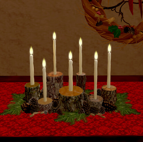 Pinecone & Wood Candelabra by Teal Freenote