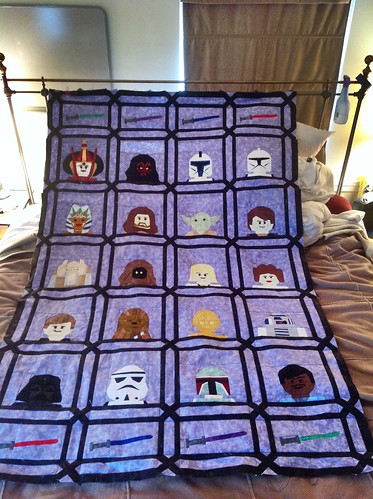 Lego Star Wars Quilt top