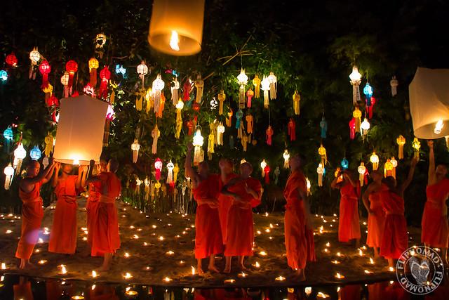 Yi Peng Celebration at Wat Pantao Chiang Mai