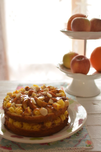 Apple Toffee Gateau