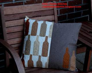 Wine bottle cushion