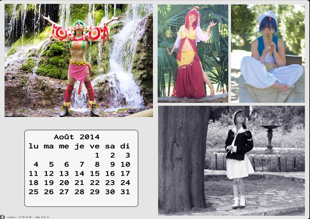 related image - Calendrier Cosplay 2014-08 - Aout