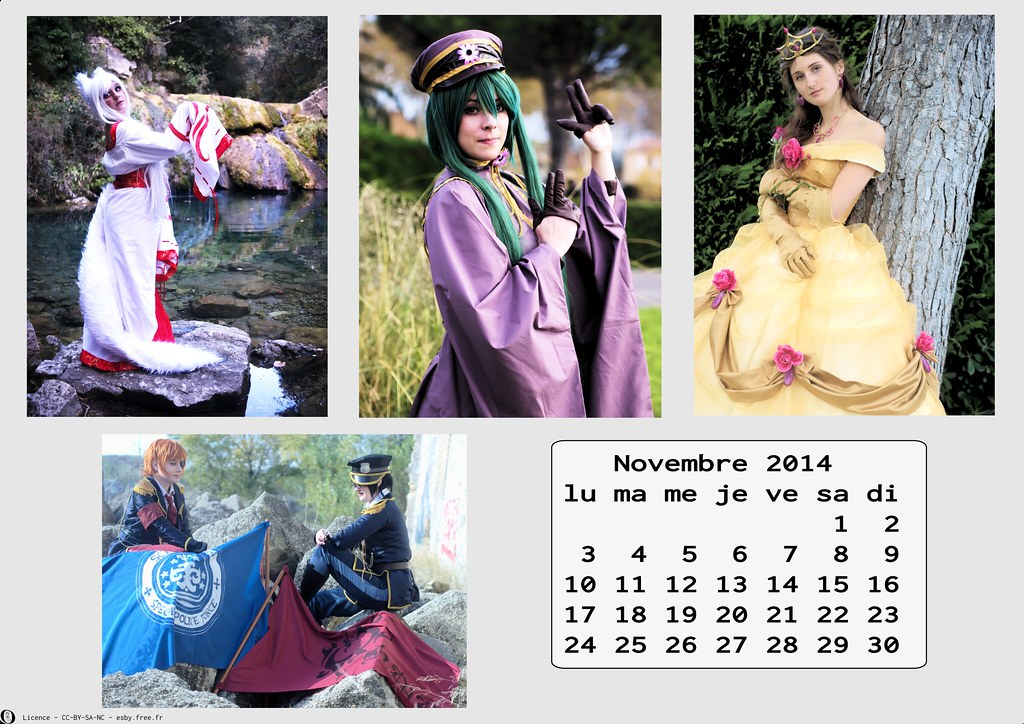 related image - Calendrier Cosplay 2014-11 - Novembre