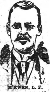Woodcut of McEwen, from the Atlanta Constitution, 5/18/1890.