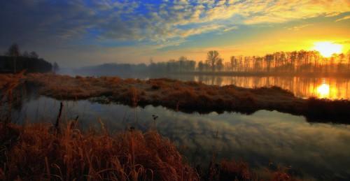 morning water sunrise canon river landscape drohiczyn cesarz marcelxyz