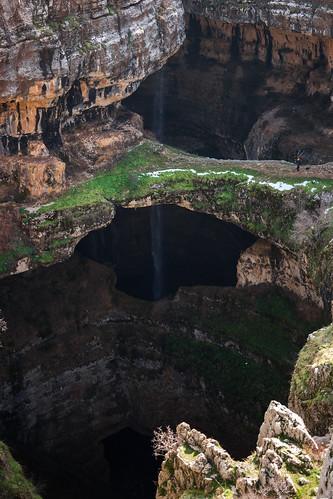lebanon nature waterfall sony north limestone gorge cave jurassic pothole amount dyxum tannourine balaa baatara chatine sal2875 slta99v
