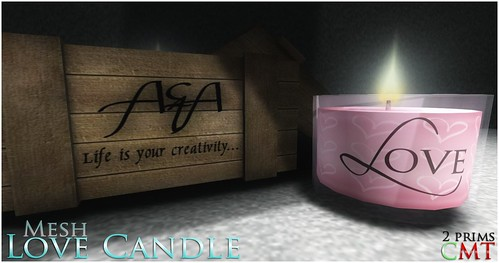 ::A&A:: Love Candle by Alliana Petunia