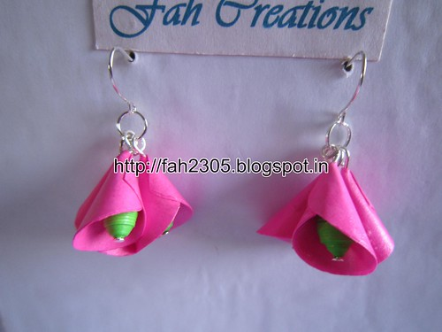 Handmade Jewelry - Paper Cone Bell Earrings (15) by fah2305