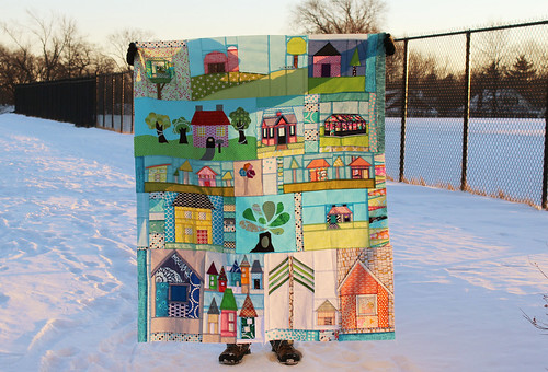 Happy Houses Quilt Top