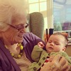 Adam meets his great grandmother :-)