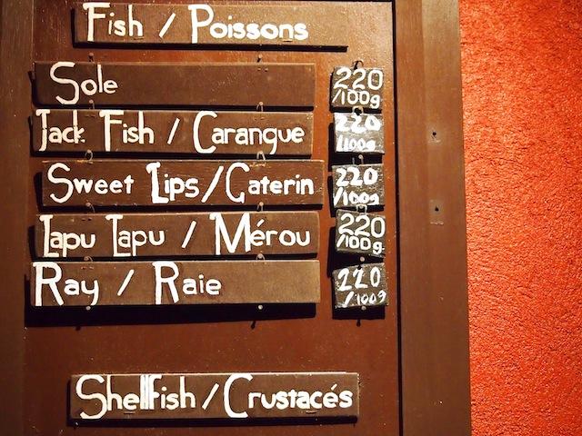 La Salangane El Nido Palawan French menu