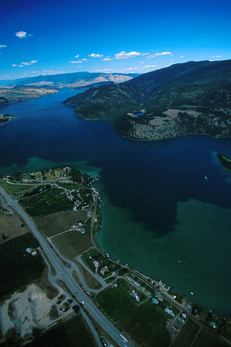 Kalamalka Lake in Vernon, North Okanagan Valley, British Columbia, Canada
