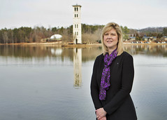 President-elect Davis and the Belltower