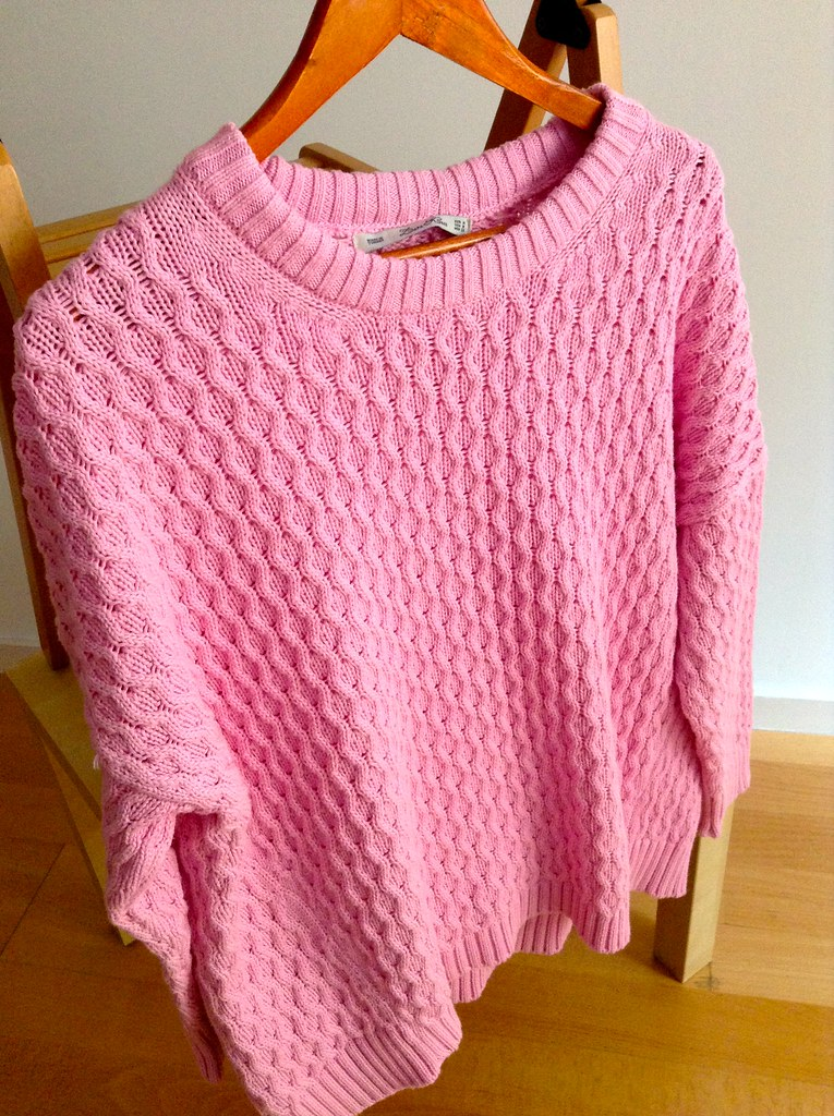 Zara 2014 Spring Summer Collection - Pink sweater