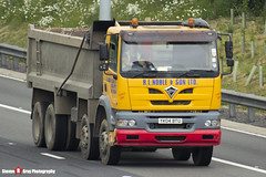 Foden 3000 8x4 Tipper - Yellow & Red - YK04 BTU - R.L.Noble & Son LTD - M1 J10 - Luton - Steven Gray - IMG_4854