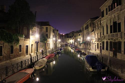 venice night europe