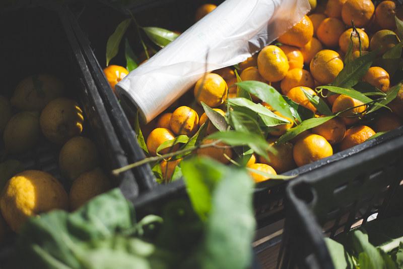 fruta biológica no mercado do parque da cidade