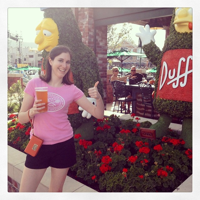 Drinking Duff beer! #universalstudios #orlando #florida