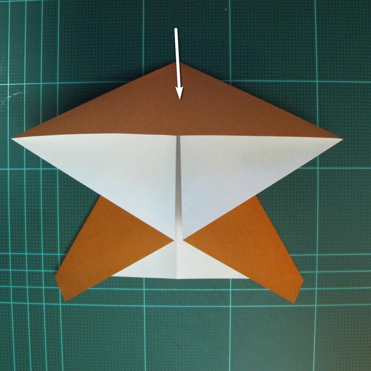 วิธีการพับกระดาษเป็นรูปกบ (แบบโคลัมเบี้ยน) (Origami Frog) 018