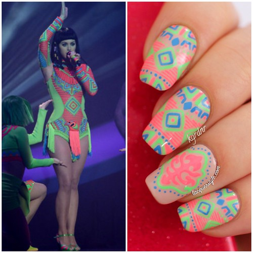 Neon-Katy-Perry-Tribal-Nails