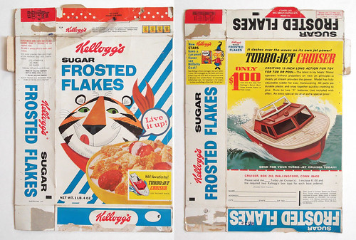1963 Kellogg's Sugar Frosted Flakes Cereal Box