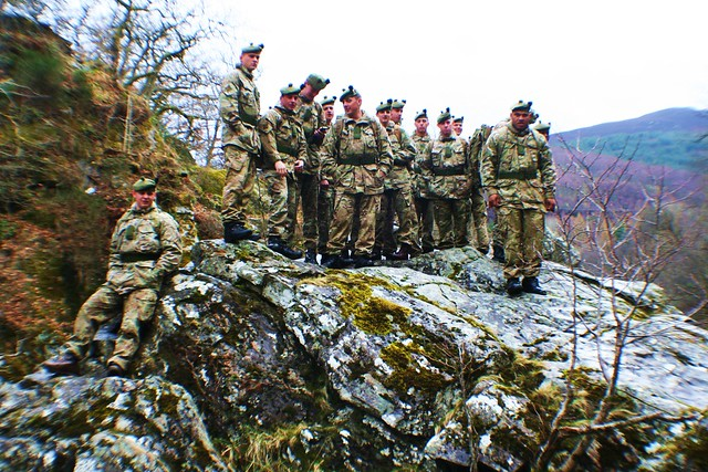 Soldiers at Site of Battle of Killiecrankie, 1689
