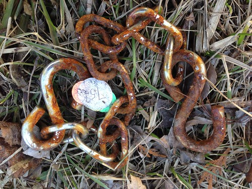 Found in the Melting Snow: A Rusty Chain Market For Sale For $0.75