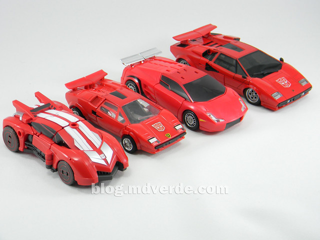 Transformers Sideswipe Deluxe - Generations Fall of Cybertron Edition - modo alterno vs otros Sideswipe