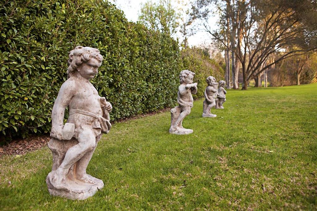 Cherub Harpist, Cherub Sculptor, Cherub Painter & Cherub Flutist