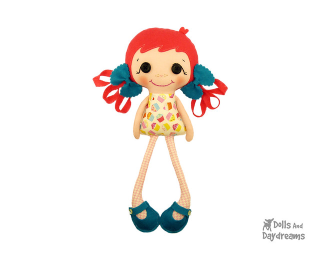 Betsy Buttons - a Cute Cloth & Felt Doll Pattern