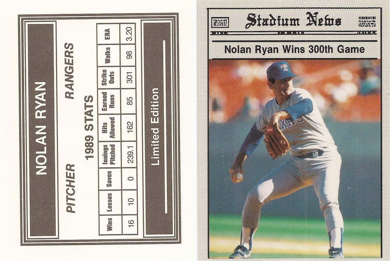 Nolan Ryan Price List Supercollector Catalog