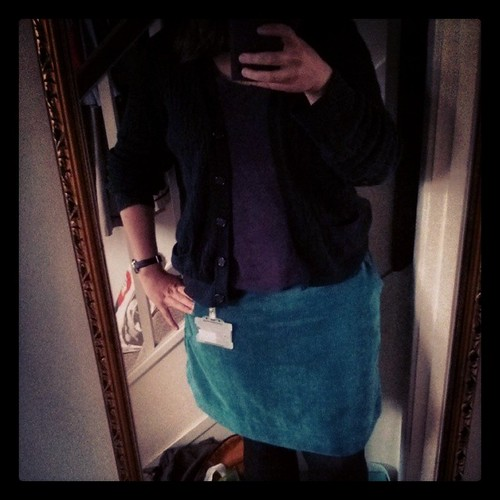 #mmmay14 Day 29: An uninspired outfit for an uninspiring day. New Look 6154  / Simplicity 2451 skirt