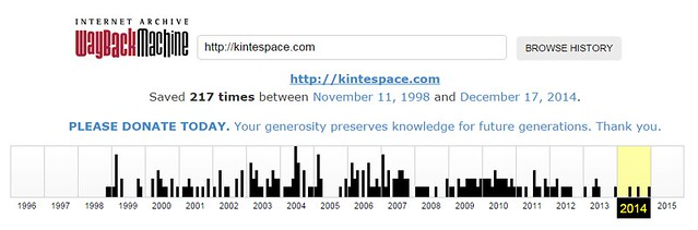 InternetArchive.org: Wayback Machine for KinteSpace.com