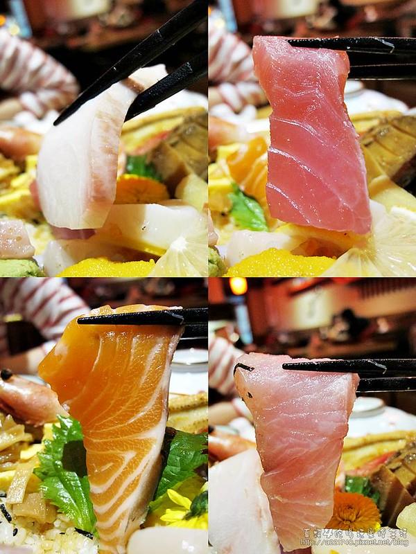 09豪華海鮮丼之生魚片