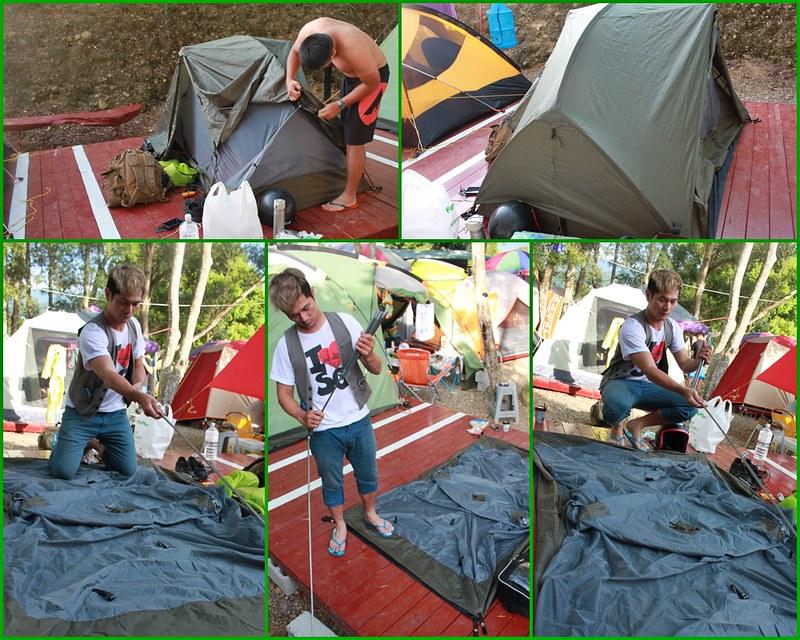 環島。鹿野高台大帳篷露營區-17度C搭帳篷初體驗