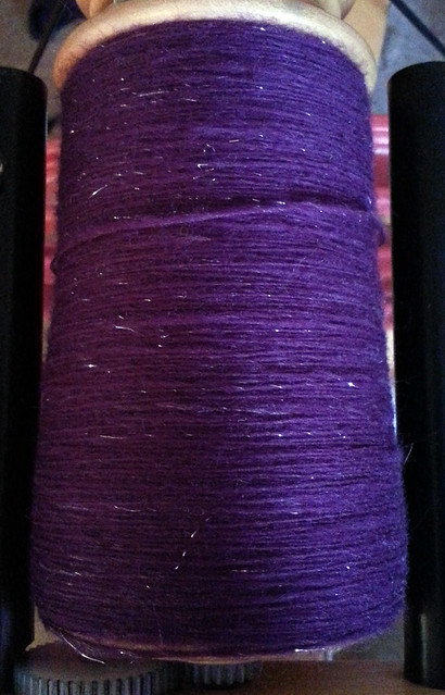 Tour de Fleece 2015 Day 9 - July 12 - Loop Bullseye Bump in Ultraviolet colorway - Pic 3