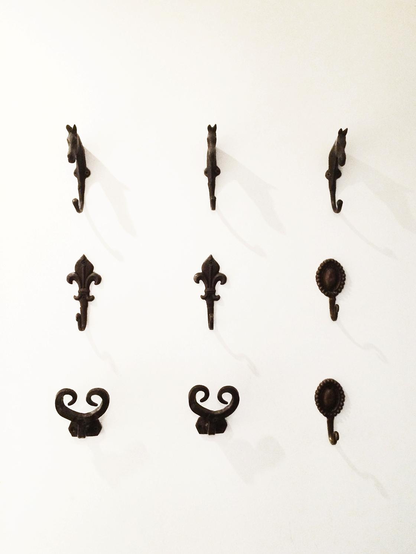 9 coat hooks