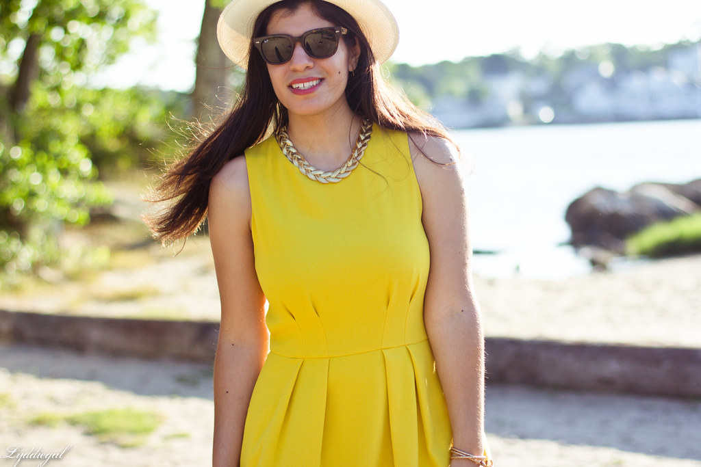 yellow dress, panama hat, summer outfit-8.jpg